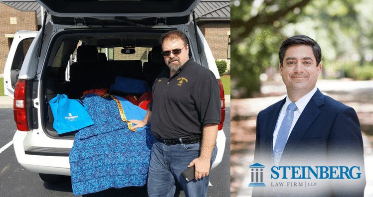 Steinberg Law Firm Supports Lowcountry Firefighter and EMS Support Team With PTSD Blankets