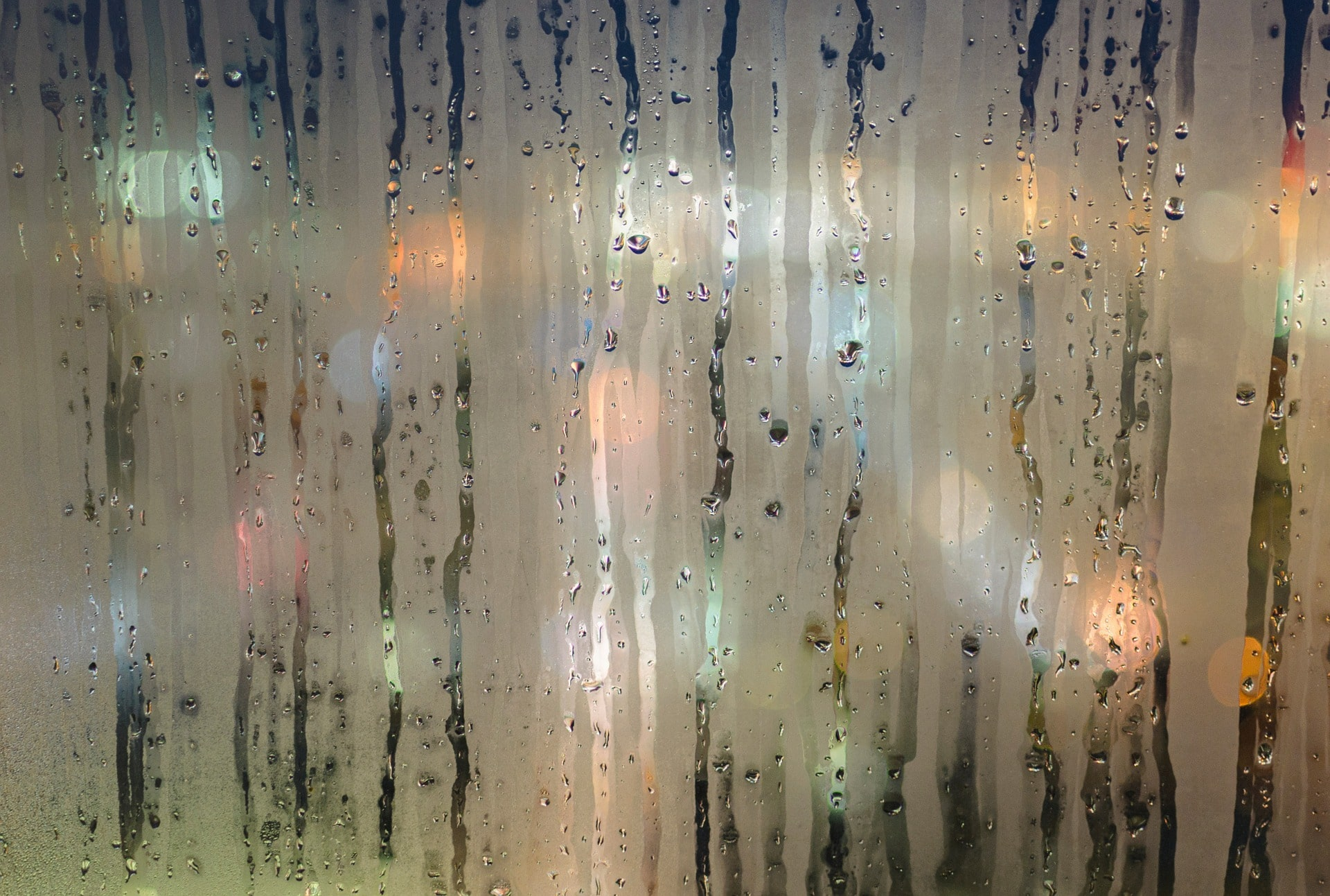 Water condensation on windows during winter royalty-free stock photo