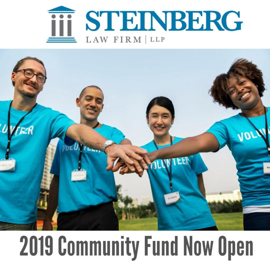 Applications Open for 2019 Steinberg Community Fund